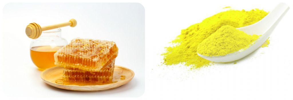 Phối hợp tinh bột nghệ với mật ong để chữa đau dạ dày<