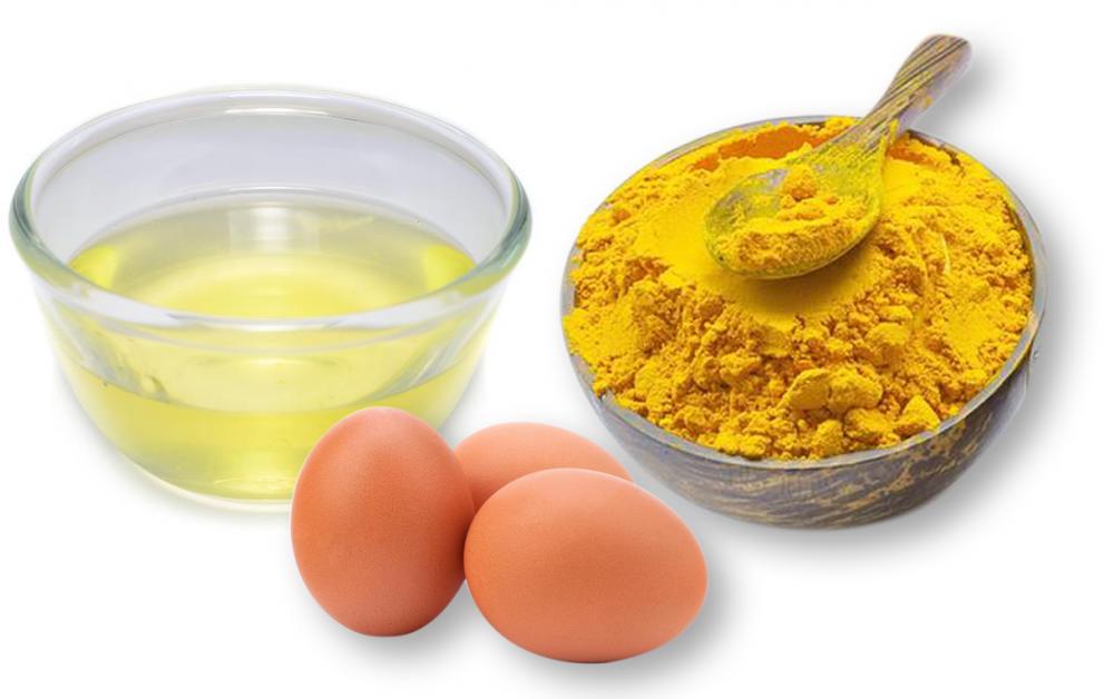 Mặt nạ tinh bột nghệ và trứng gà có tác dụng trị thâm cực đỉnh