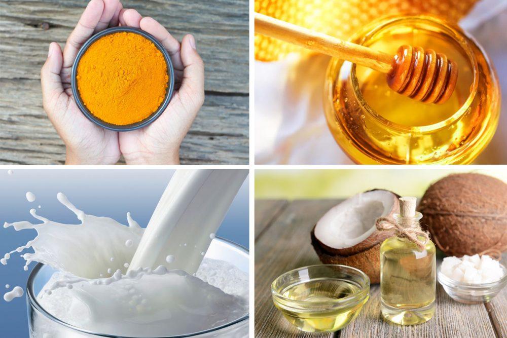 Mặt nạ tinh bột nghệ và dầu dừa có tác dụng trị mụn, nám da và tàn nhang rất hiệu quả