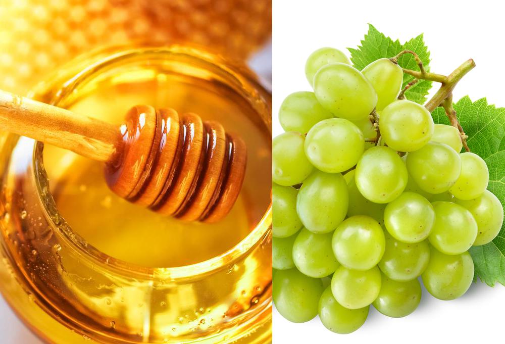 Nho xanh và mật ong chính công thức trị nám tàn nhang từ thiên nhiên hiệu quả