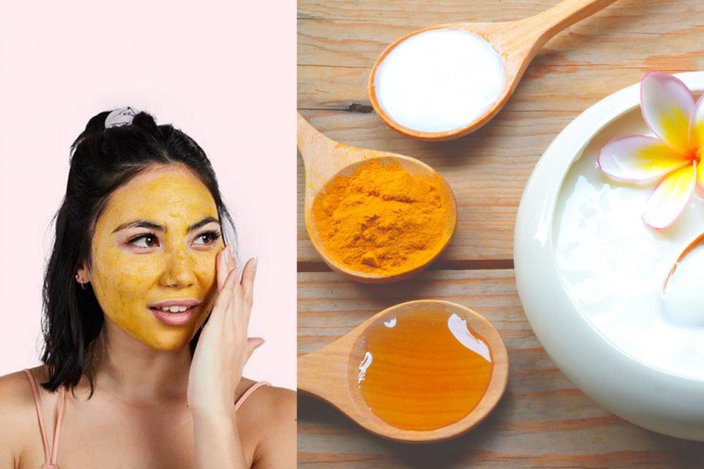 Thường xuyên đắp mặt nạ tinh bột nghệ mật ong 2-3 lần/tuần để làn da sạch mụn, sáng mịn
